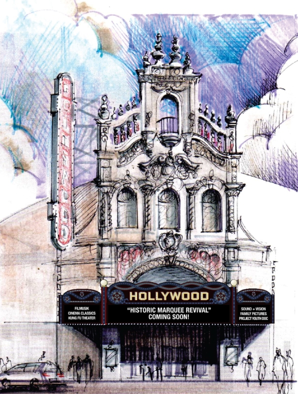 Rendering of the Hollywood Theatre, Portland, OR / image from theatre's website