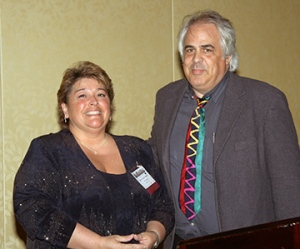 THS President, Karen Colizzi Noonan and David Naylor at the 2006 Conclave Banquet. Credit: Stefanie Klavens.
